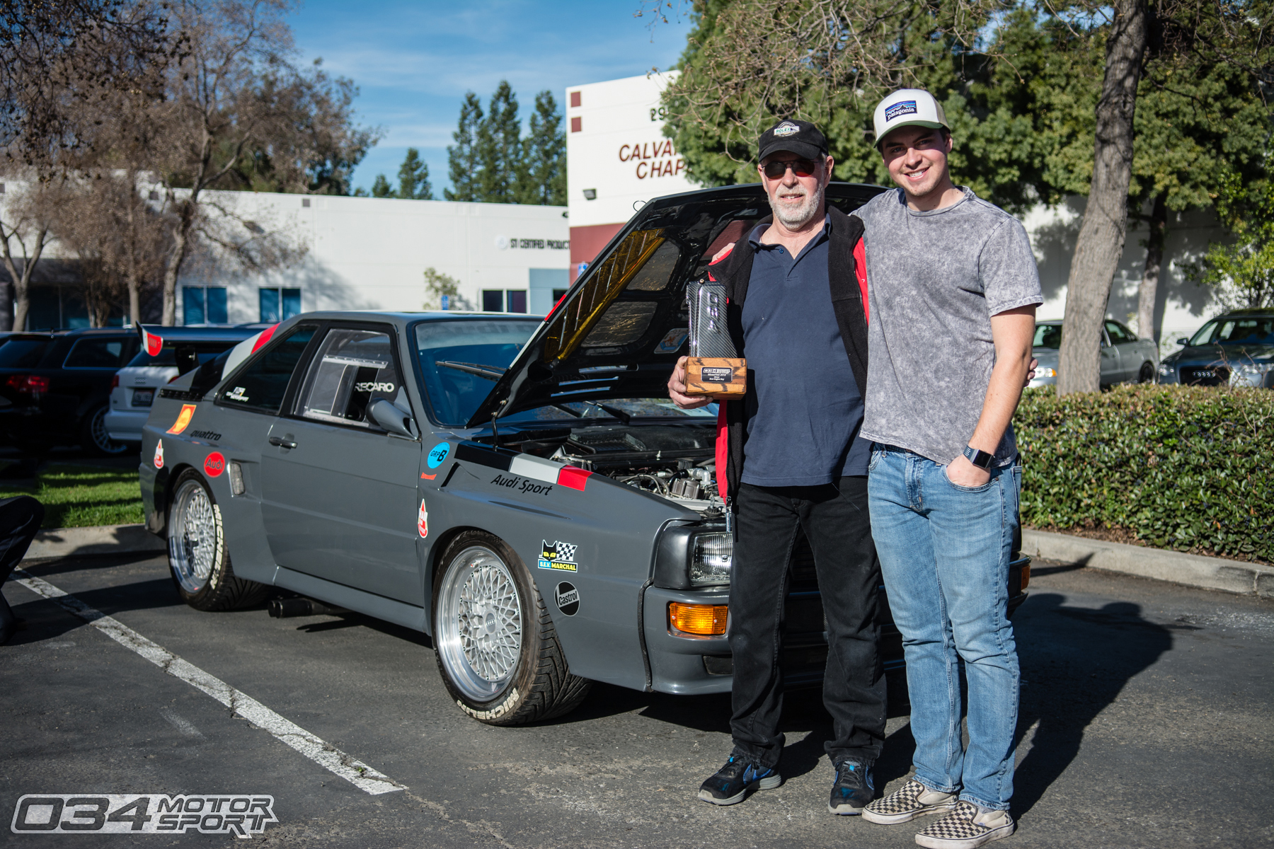 Best Engine Bay won by Curt and Cam Hammill with Audi Sport Quattro Replica