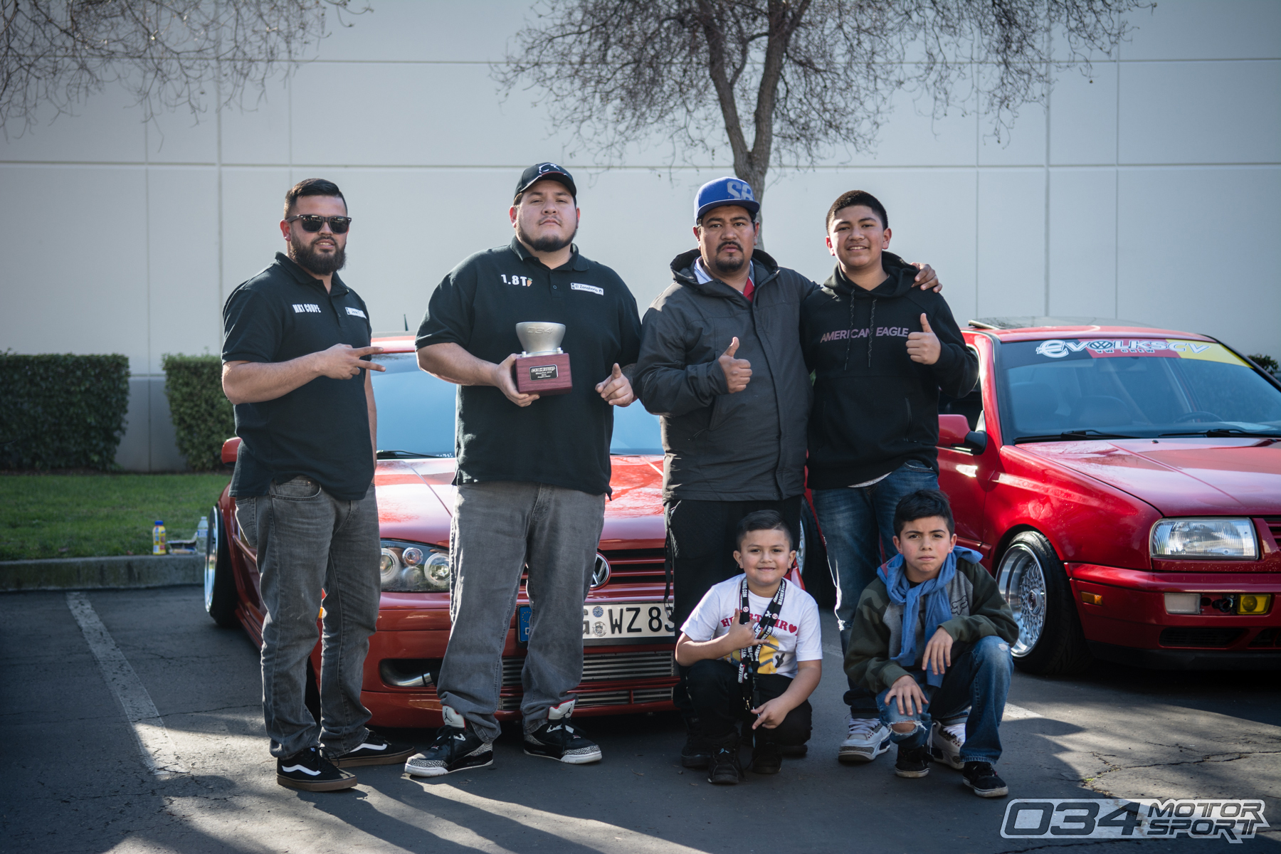 Raul Serrato and his MkIV Volkswagen Golf 1.8T won People's Choice at WinterFest 2018.