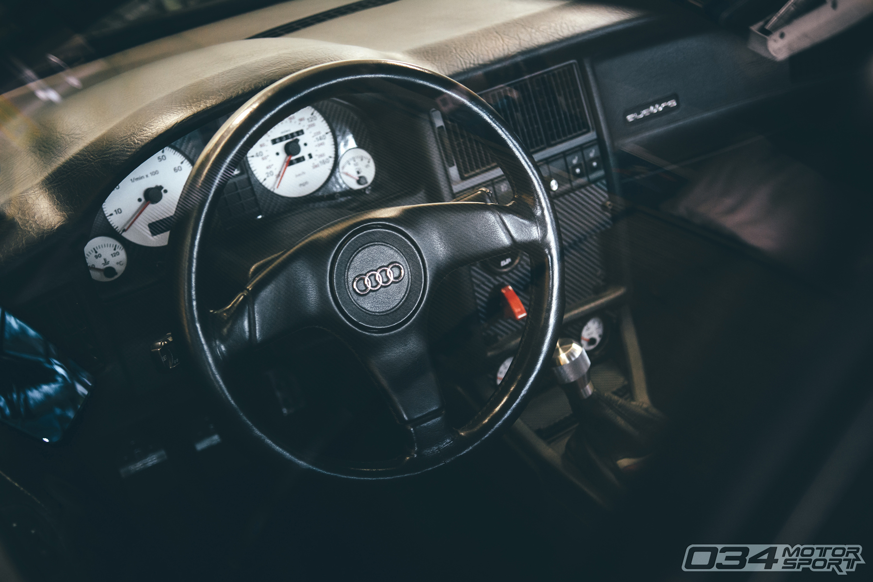 Interior of Big Turbo Audi 90 Quattro 20V