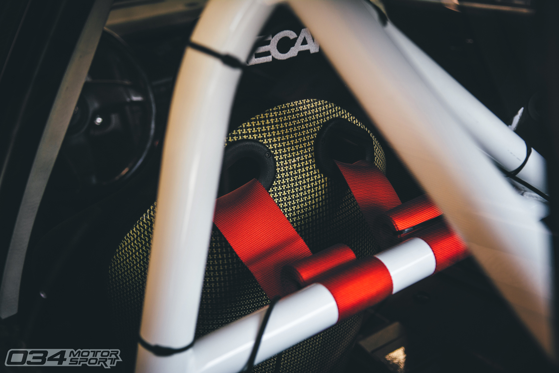 Harness Roll Bar Inside Audi 90 Quattro 20V Racecar