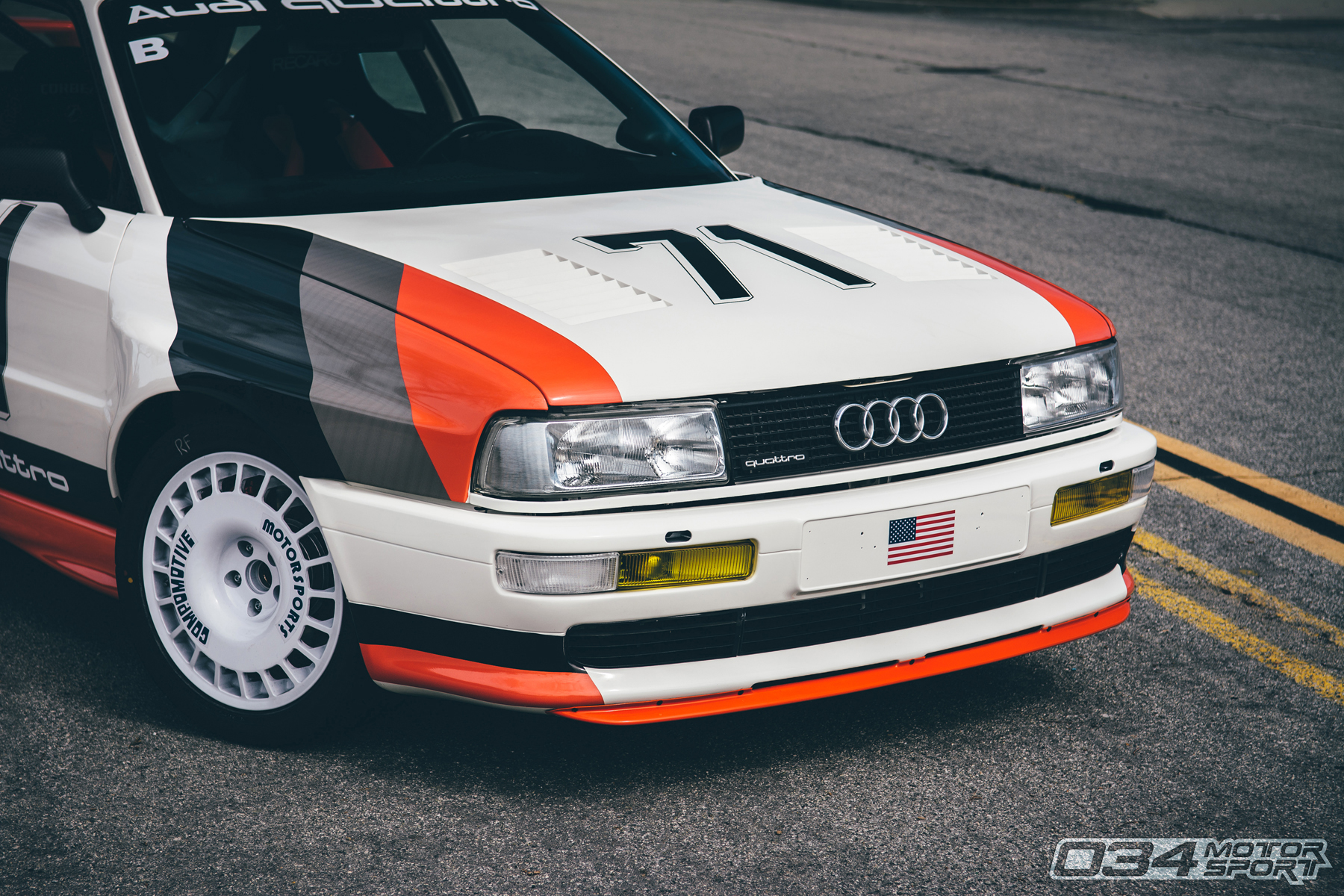 Turbocharged Audi 90 Quattro 20V with Compomotive Wheels