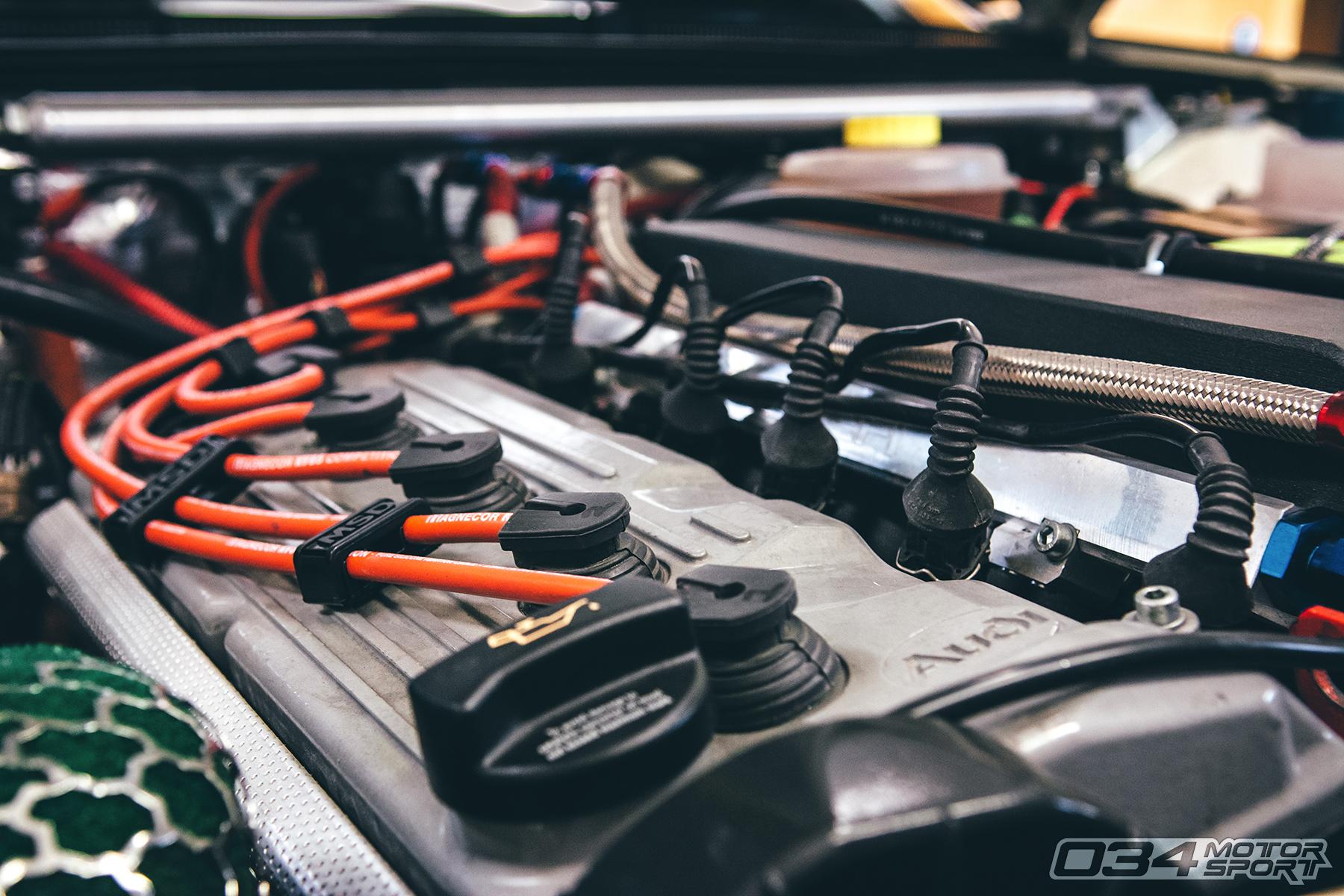 Audi 7A 5 Cylinder 20V Motor in 1991 Audi 90 Quattro 20V