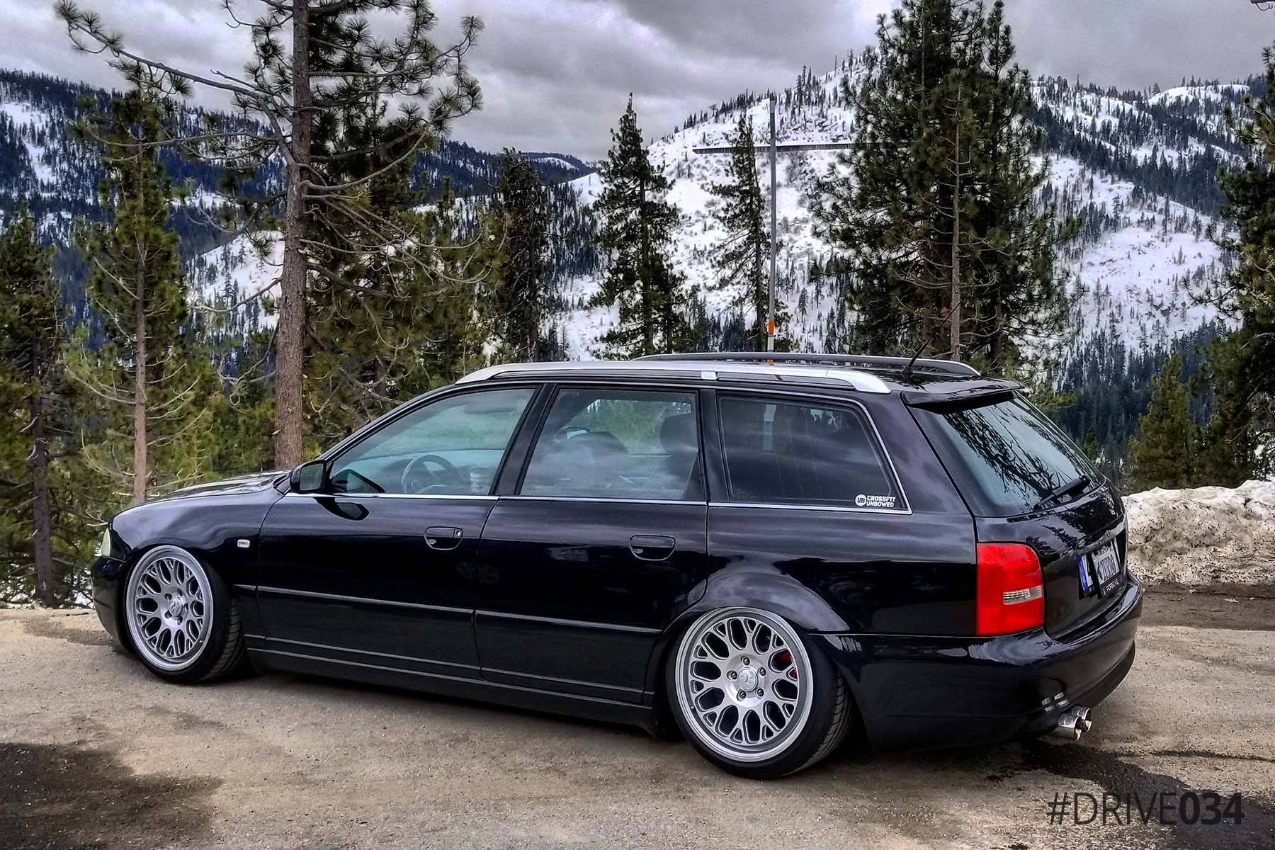 Lowered B5 Audi S4 Avant with Fifteen52 Wheels
