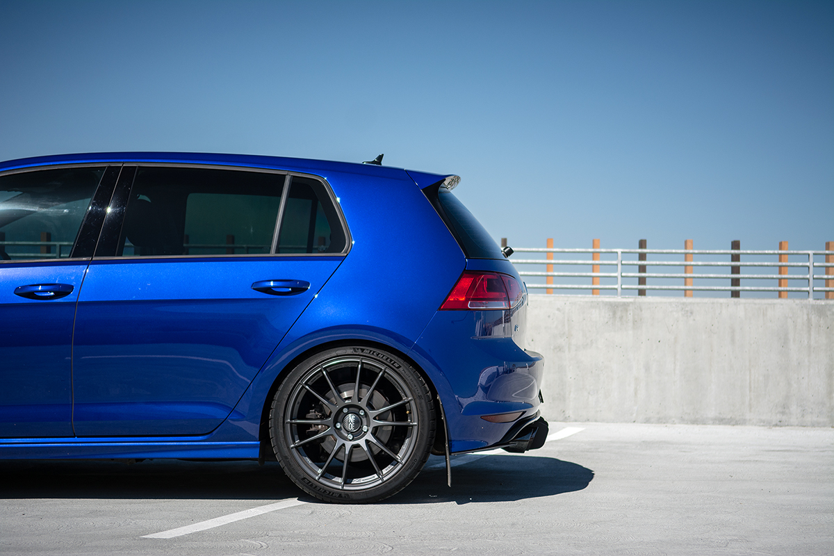 Rear Ride Height of Dynamic+ Lowering Springs for MkVII Volkswagen Golf R