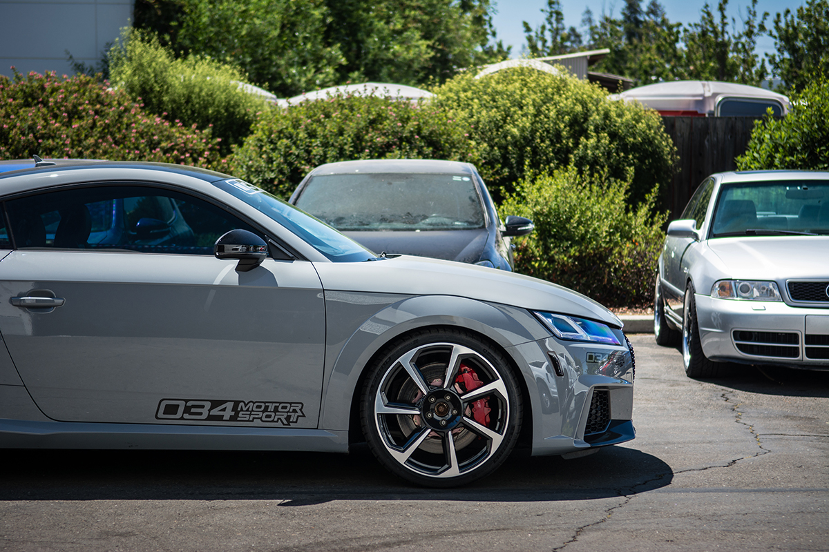 Front Ride Height of 8S Audi TTRS with Dynamic+ Lowering Springs