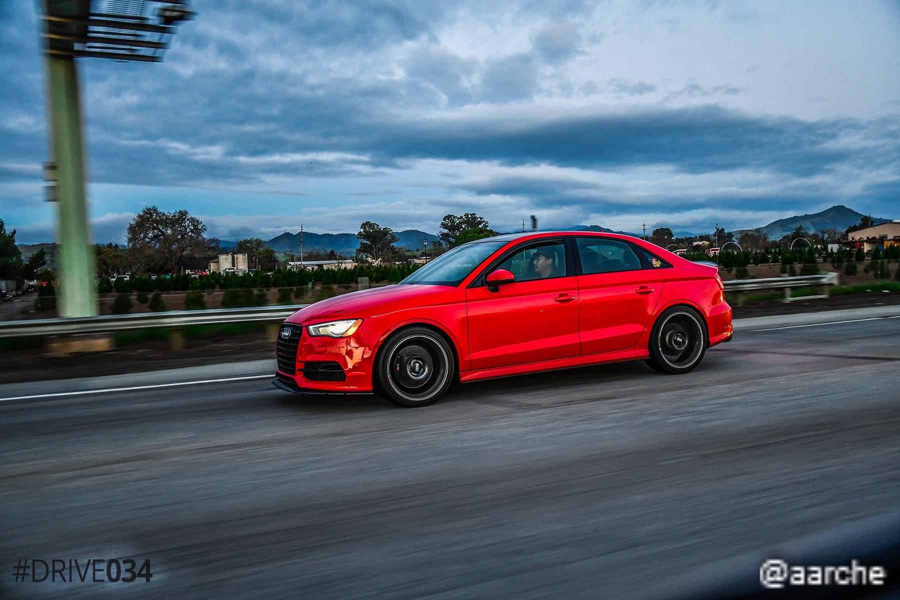 Modded 8V Audi S3 Rolling Shot