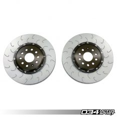 Now Available: 2-Piece Floating Front Brake Rotor Upgrade Kit for the VW Mk7/7.5 GTI w/ Performance Pack, VW Mk7/7.5 Golf R, and Audi 8V/8V.5 S3
