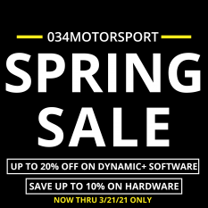 Last Weekend Left of the 034Motorsport Spring Sale!