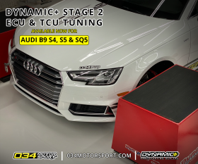 034Motorsport B9 Audi S4/S5/SQ5 EA839 3.0T Dynamic+ Performance ECU Stage 2 Software Now Available!