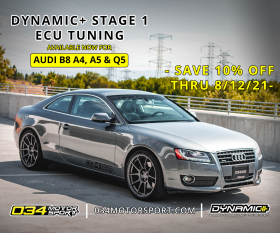 034Motorsport Dynamic+ Tuning for B8 Audi A4, A5, & Q5 2.0T Now Available!
