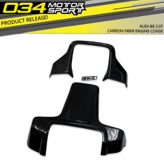 Now Available from 034Motorsport: Carbon Fiber Engine Cover for B8 3.0T Supercharged Engines!