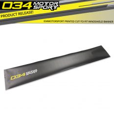 Now Available from 034Motorsport: Printed Cut-to-Fit Windshield Banner